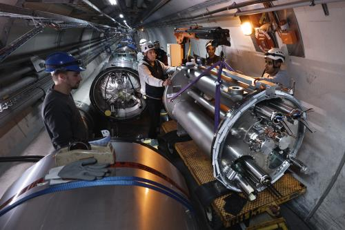 HL-LHC equipment installed on both sides of the ALICE experiment