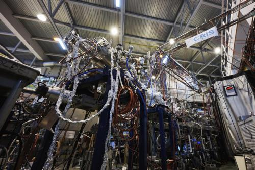 ISOLDE scores a first with laser spectroscopy of short-lived radioactive molecules